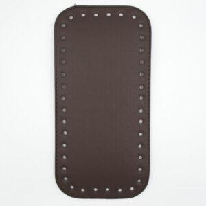 Донышко для сумки прямоугольное экокожа 12х25 шоколад