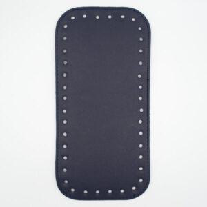 Донышко для сумки прямоугольное экокожа 12х25 темно-синее