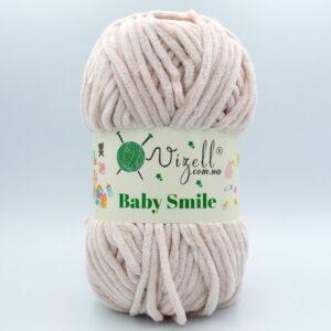 Пряжа плюшевая Vizell Baby Smile 025 светло-бежевый