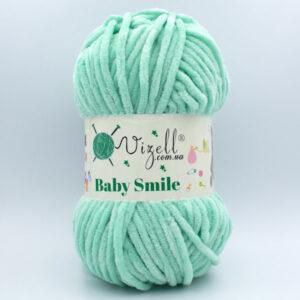 Пряжа плюшевая Vizell Baby Smile 026 мята