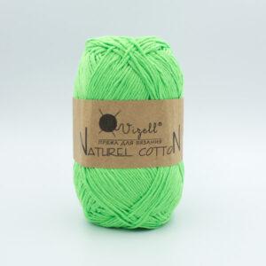 Пряжа Vizell Naturel Cotton ярко-зеленый