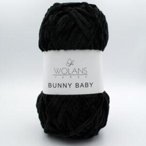 Пряжа плюшевая Wolans Bunny Baby 10010 черный