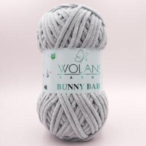 Пряжа плюшевая Wolans Bunny Baby 10033 серо-бежевый
