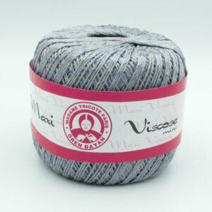 Пряжа Madame Tricote Maxi Viscose mini 4651 серый