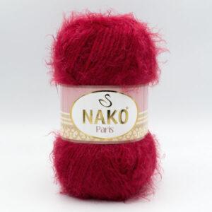 Пряжа Nako Paris 3641 темно-красный
