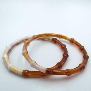 Комплект ручек пластиковых круглых бамбук 14.5 см янтарь