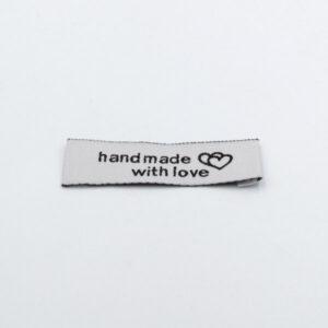Нашивка тканевая 50×15 mm Hand Made серая