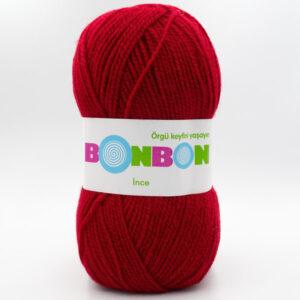 Пряжа Nako Bonbon Ince  98237 темно-красный