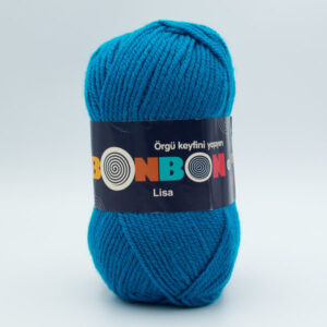 Пряжа Nako Bonbon Lisa 98685 темная голубая бирюза