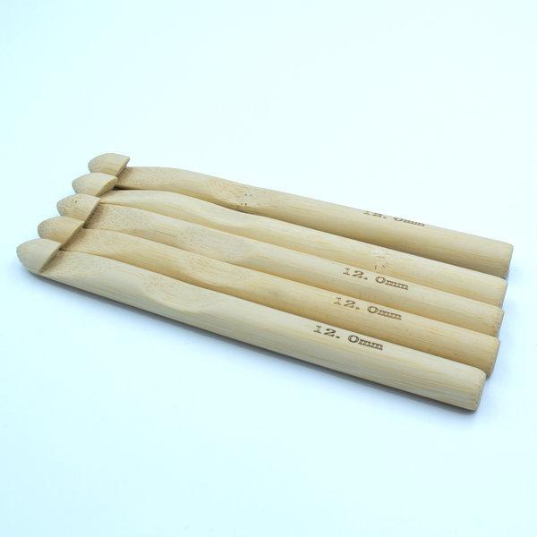 Крючок для вязания бамбуковый 12 мм
