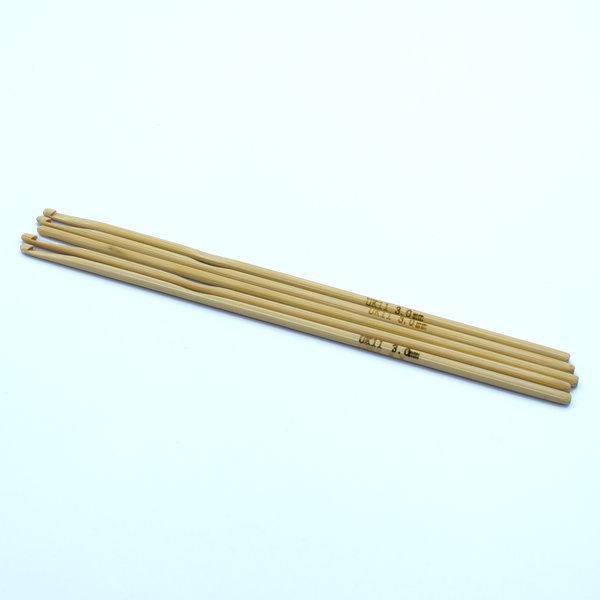 Крючок для вязания бамбуковый 3 мм