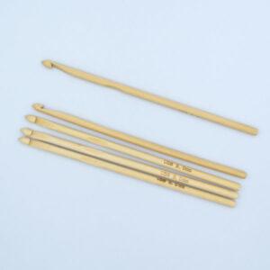 Крючок для вязания бамбуковый 5 мм