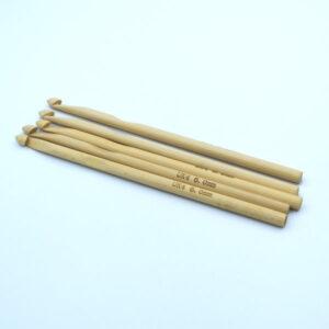 Крючок для вязания бамбуковый 6 мм