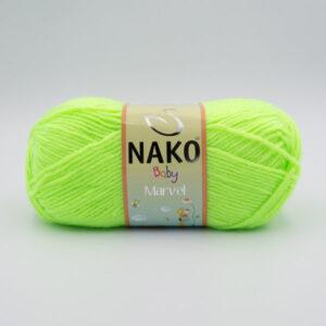Пряжа Nako Baby Marvel 3304 салатовый неон