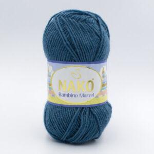 Пряжа Nako Baby Marvel 9038(185) темно-голубой джинс