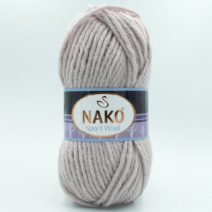 Пряжа Nako Sport Wool 3079 пудрово-серый