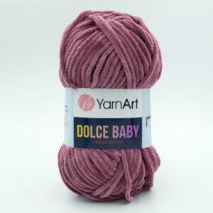 Пряжа плюшевая YarnArt Dolce Baby 751 сухая роза