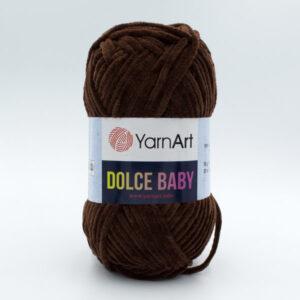 Пряжа плюшевая YarnArt Dolce Baby 775 шоколад