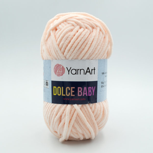Пряжа плюшевая YarnArt Dolce Baby 779 нежный персик